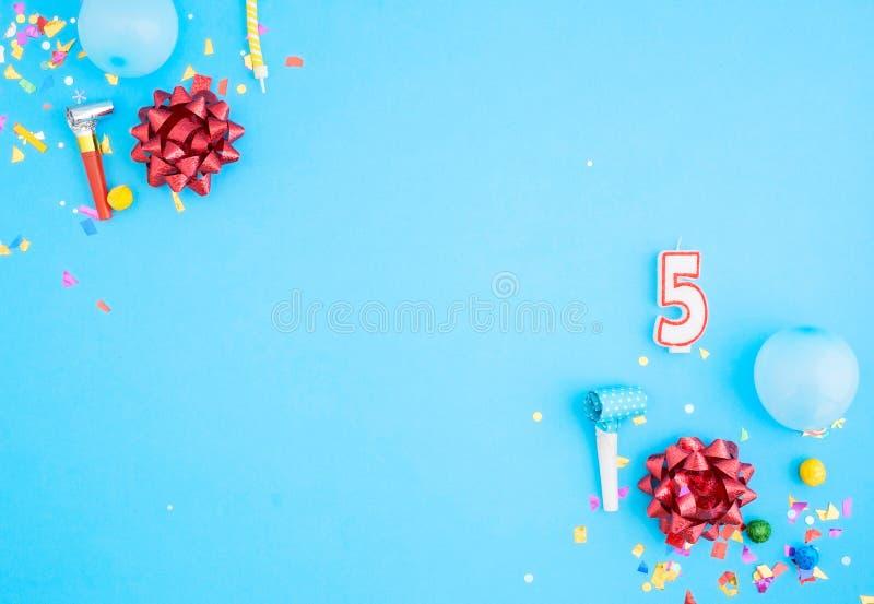 Fondo della festa di compleanno di vista superiore, fine su fotografia stock