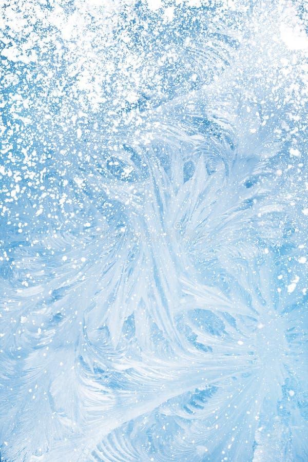 Fondo della finestra del gelo immagine stock