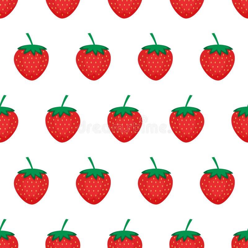 Fondo della fragola Modello senza cuciture con le fragole rosse Illustrazione di vettore illustrazione di stock