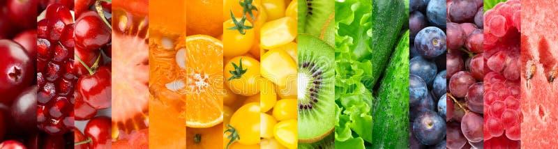 Fondo della frutta, delle verdure e delle bacche fotografia stock