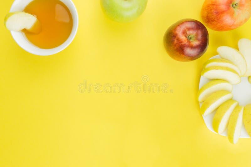 Fondo della frutta fresca per Rosh Hashanah fotografia stock libera da diritti
