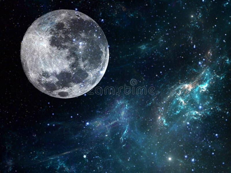 Fondo della galassia con il pianeta Illustrazione cosmica immagine stock