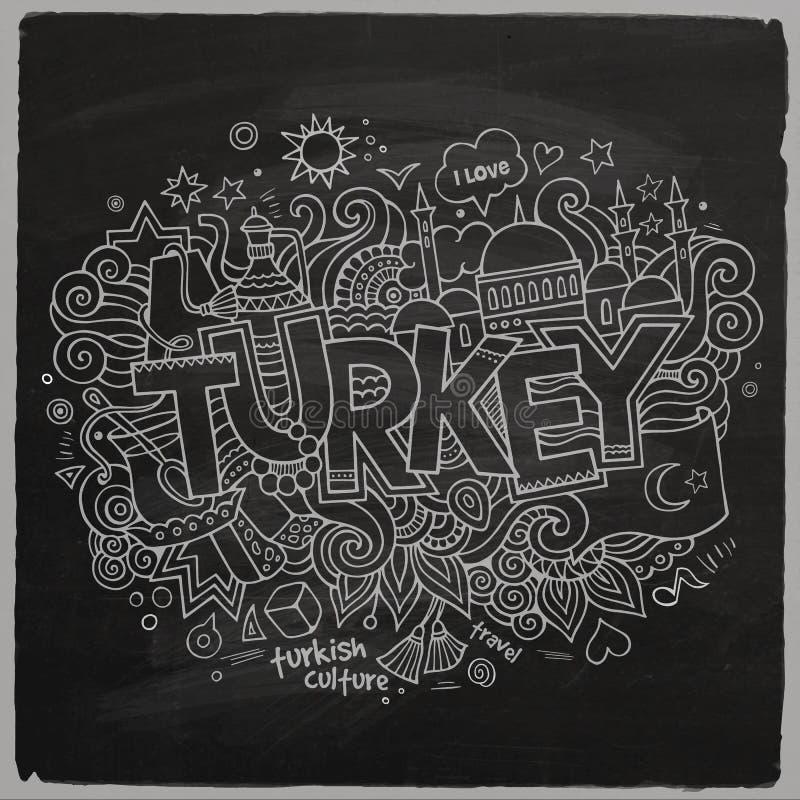 Fondo della lavagna della Turchia royalty illustrazione gratis