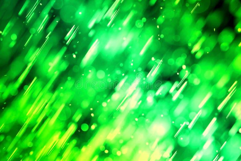 Fondo della luce del bokeh di verde di fantasia dell'estratto fotografia stock libera da diritti