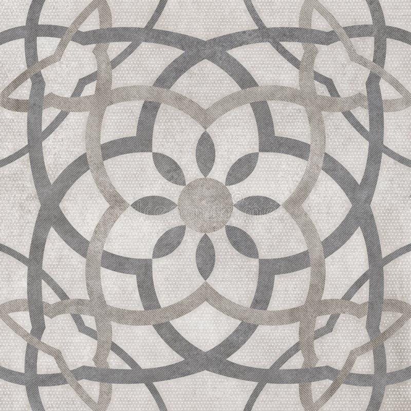 Fondo della luce del modello di arabesque, progettazione digitale della piastrella per pavimento immagine stock