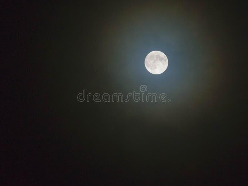 Fondo della luna piena isolato fotografia stock libera da diritti