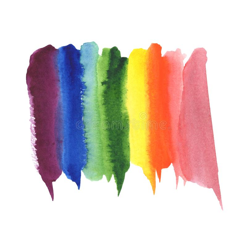 Fondo della macchia di colore dell'arcobaleno dell'acquerello dell'estratto dell'illustrazione Spettro di colori illustrazione vettoriale