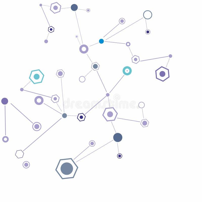 Fondo della molecola illustrazione vettoriale