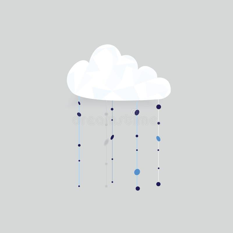 Fondo della nuvola con le gocce di pioggia illustrazione vettoriale