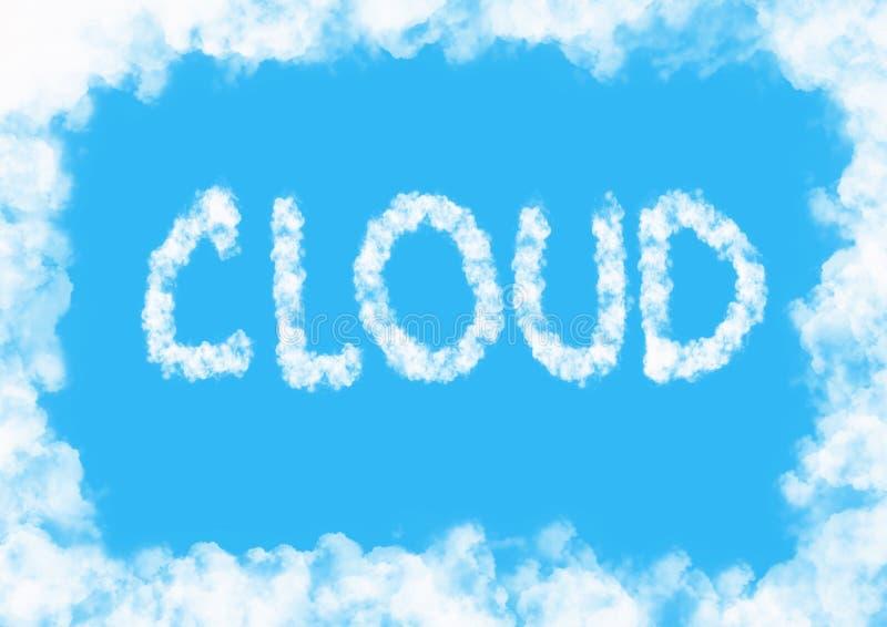 Fondo della nuvola illustrazione vettoriale
