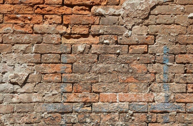 Fondo della parete di mattoni rossi fotografia stock libera da diritti