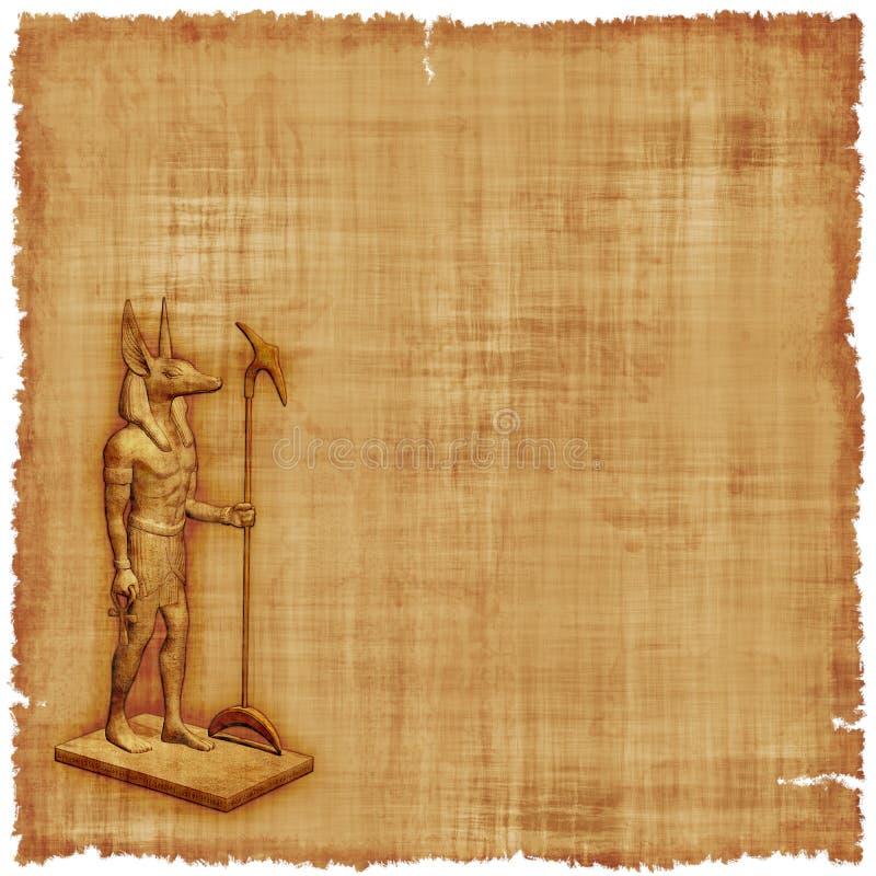 Fondo della pergamena di Anubis royalty illustrazione gratis