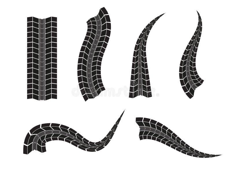 Fondo della pista della gomma di vettore Pista della gomma di lerciume illustrazione di stock