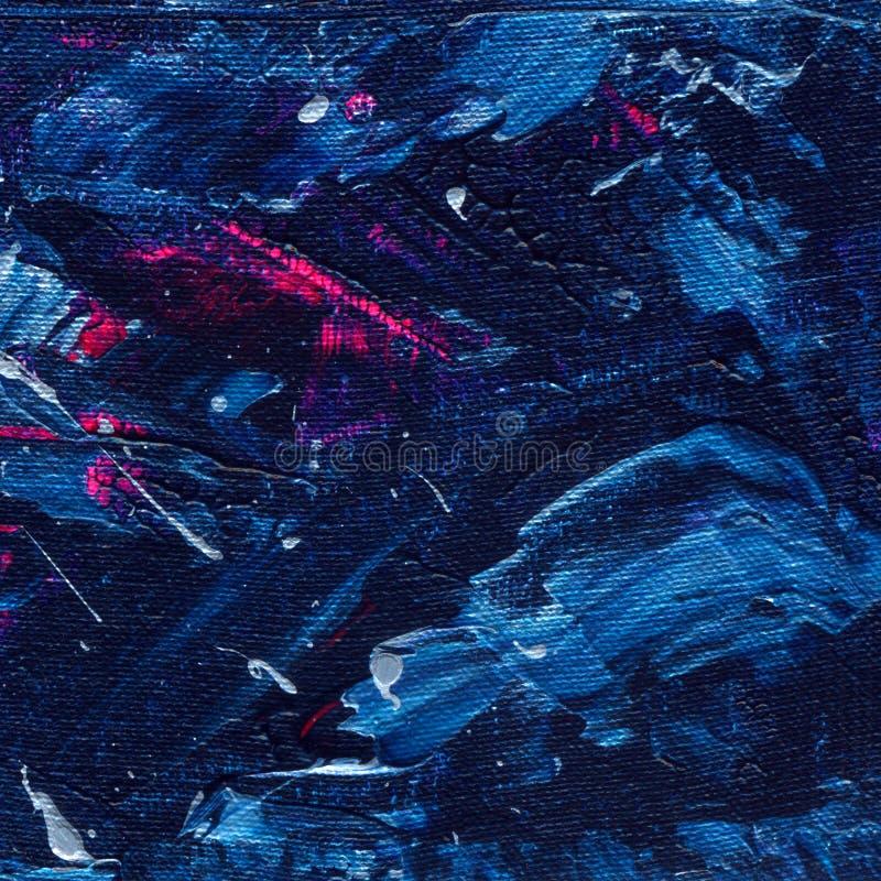 Fondo della pittura acrilica Lubrifichi la struttura, contesto creativo con i colpi artistici della spazzola Miscela dei colori b fotografie stock libere da diritti