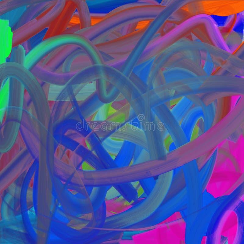 Fondo della pittura di arte di colore illustrazione vettoriale