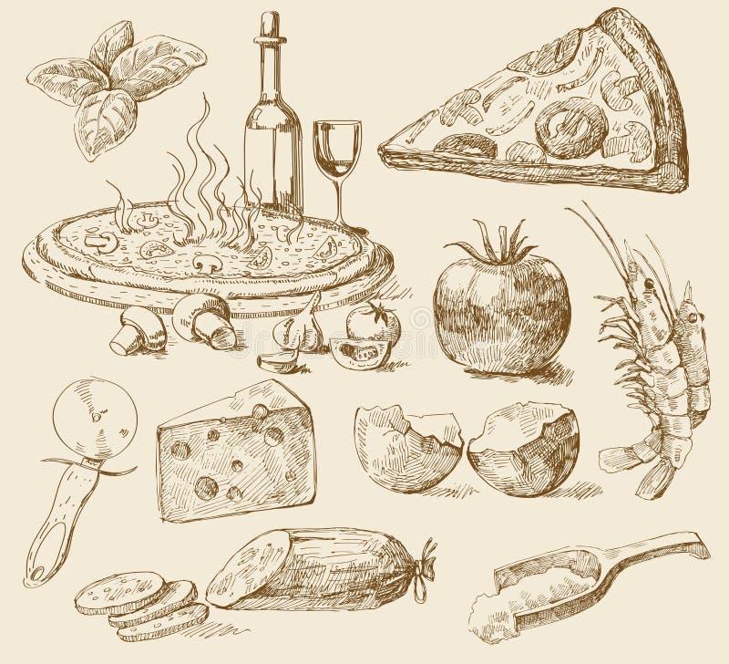 Fondo della pizza royalty illustrazione gratis