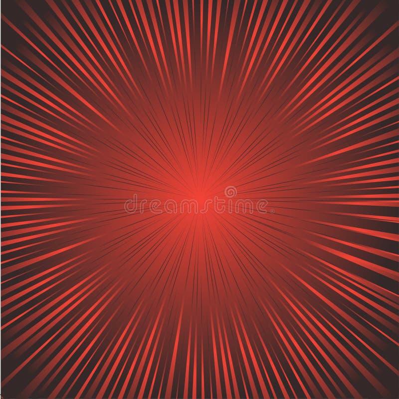 fondo della pubblicità nei colori rossi e neri illustrazione di stock