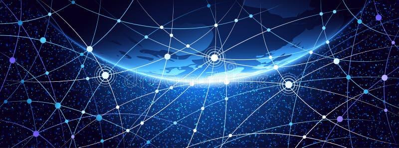 Fondo della rete globale illustrazione vettoriale