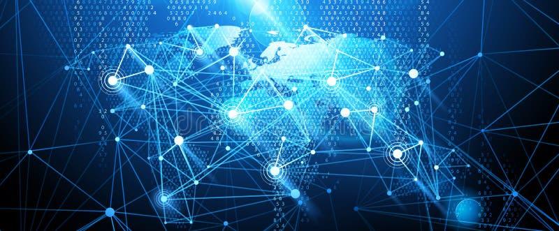 Fondo della rete globale Vettore illustrazione vettoriale