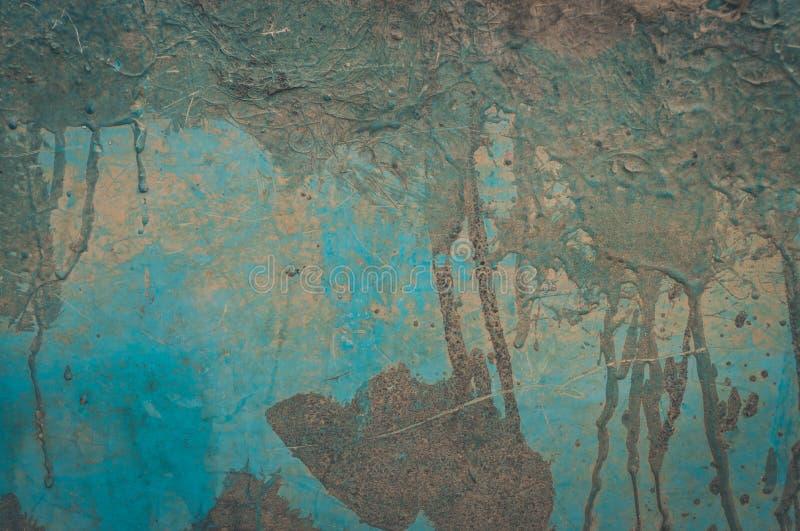 Fondo della sbucciatura e incrinato vecchio della parete della pittura Lerciume classico Dettagli, obsoleto fotografie stock libere da diritti