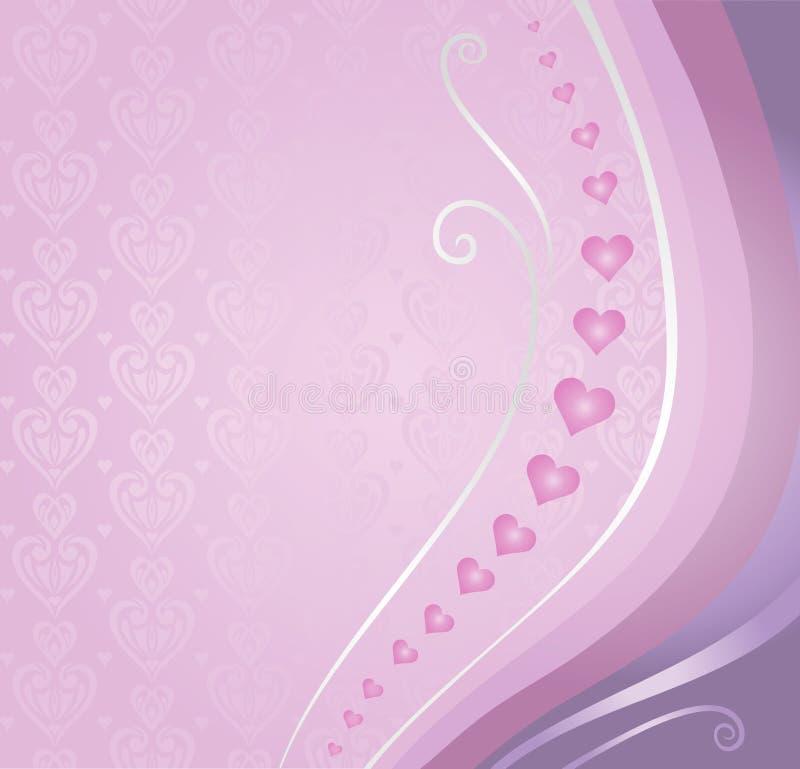 Fondo della scheda di Pink&violet royalty illustrazione gratis