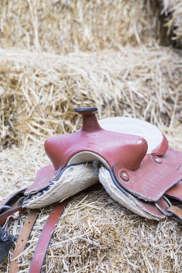 Fondo della sella del cavallo fotografia stock libera da diritti
