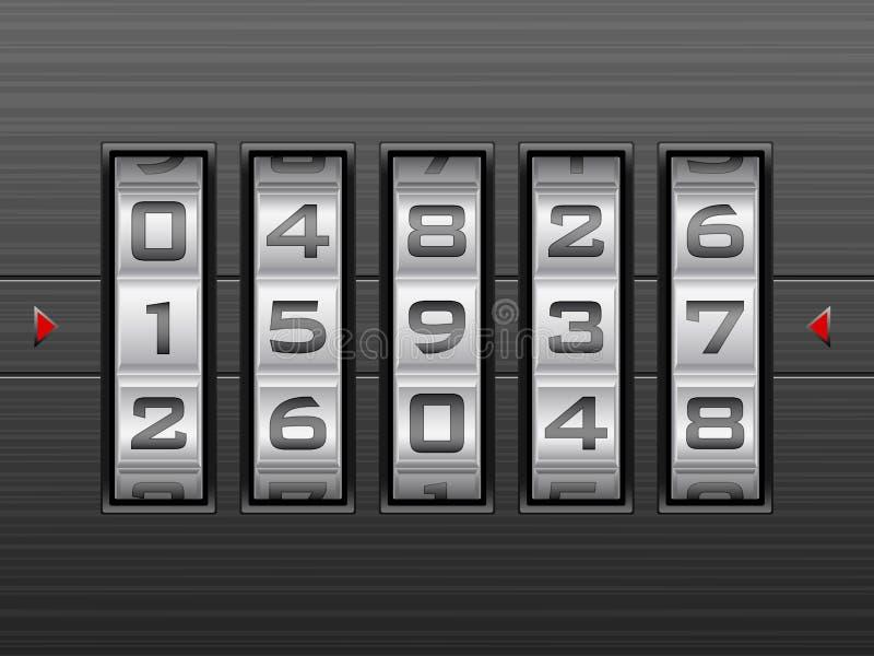 Fondo della serratura a combinazione di numero illustrazione vettoriale