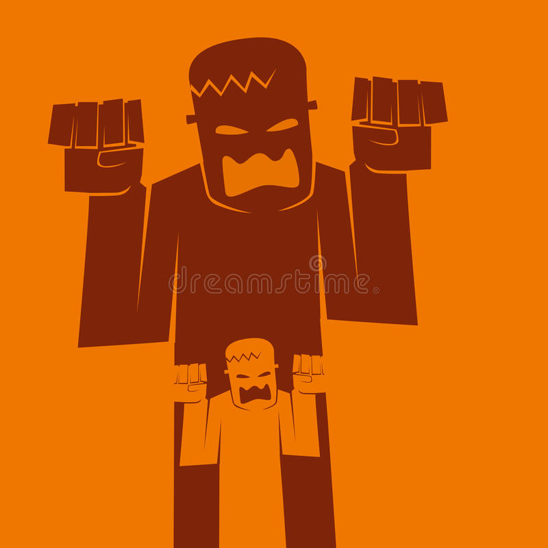 Fondo della siluetta del mostro di Halloween royalty illustrazione gratis