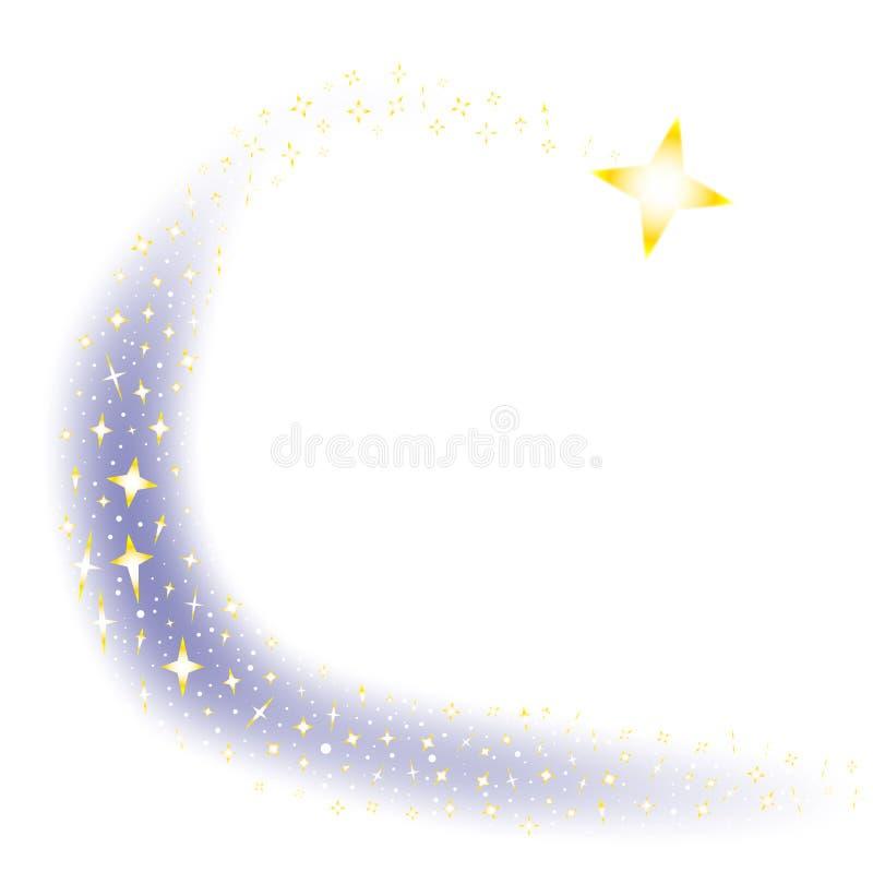 Fondo della stella cadente royalty illustrazione gratis