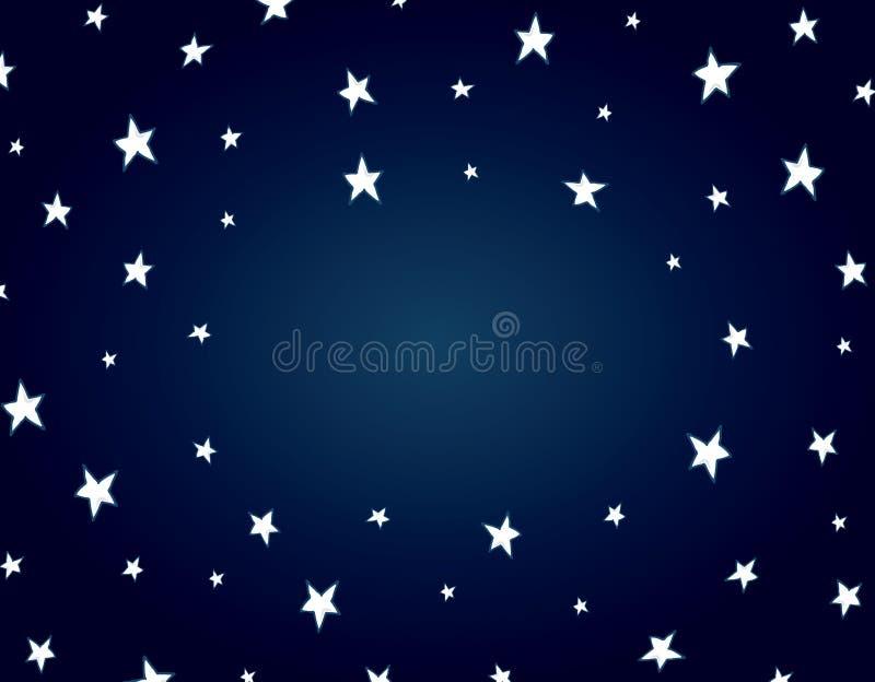 Fondo della stella di notte del fumetto illustrazione di stock