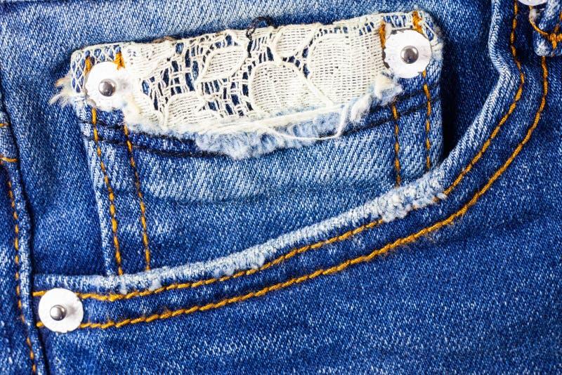 Fondo della tasca dei jeans immagini stock