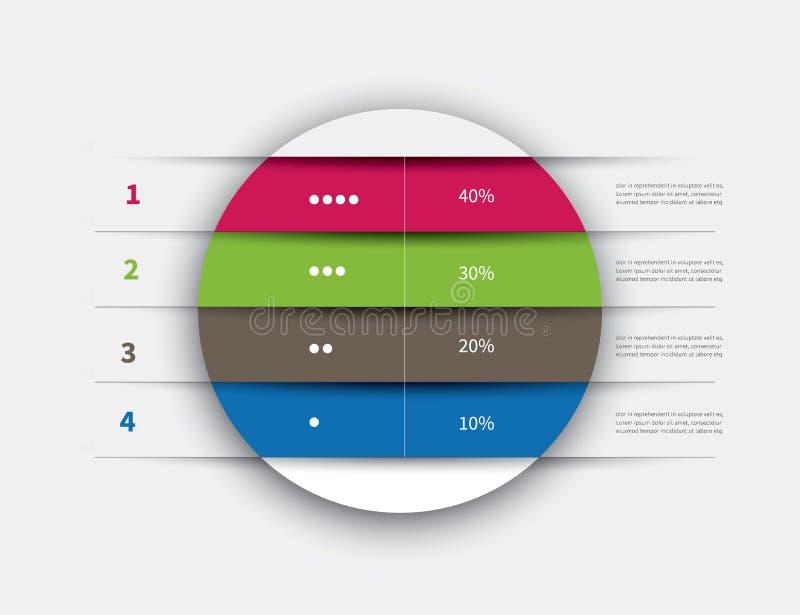 Fondo della tavola di cerchio di Infographics illustrazione di stock