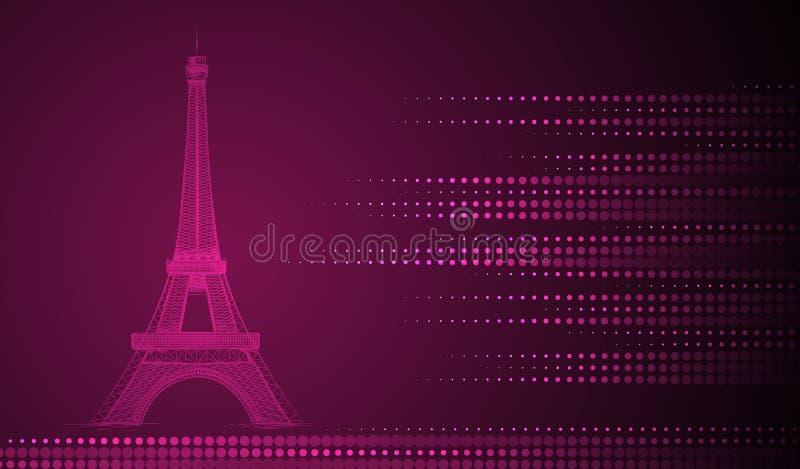 Fondo della torre Eiffel illustrazione vettoriale