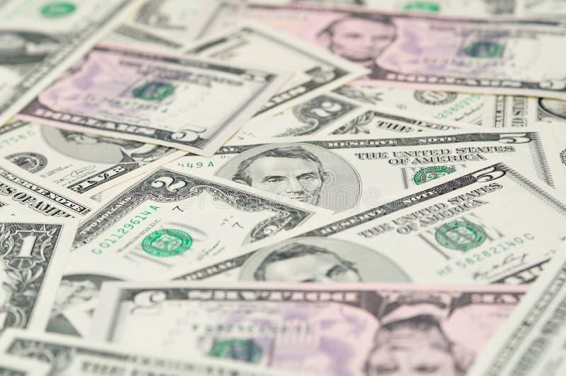 Fondo delle banconote del dollaro. fotografia stock libera da diritti
