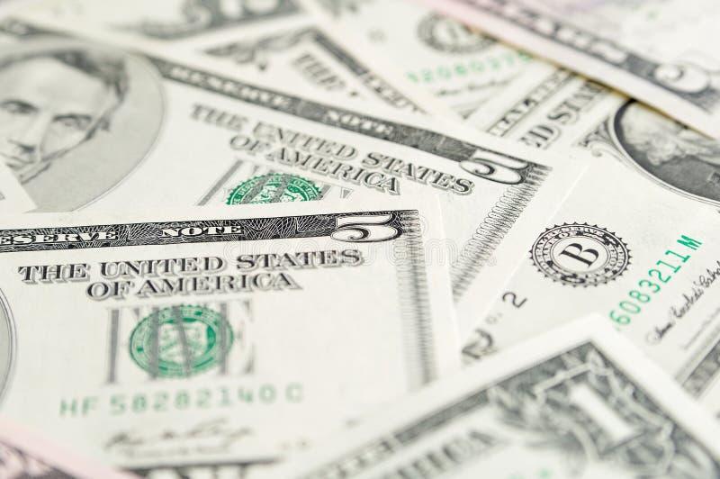 Fondo delle banconote del dollaro. fotografie stock libere da diritti