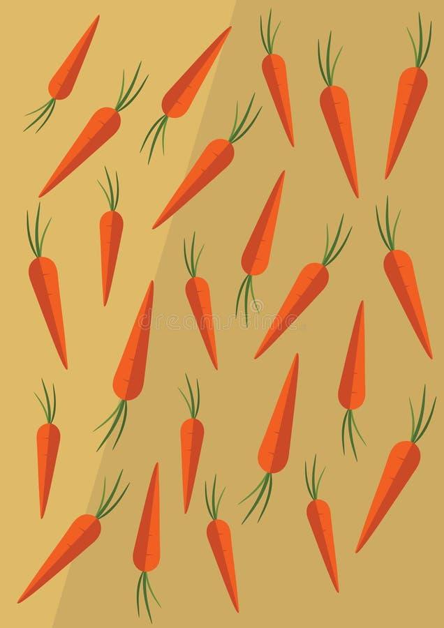 Fondo delle carote di vettore illustrazione vettoriale