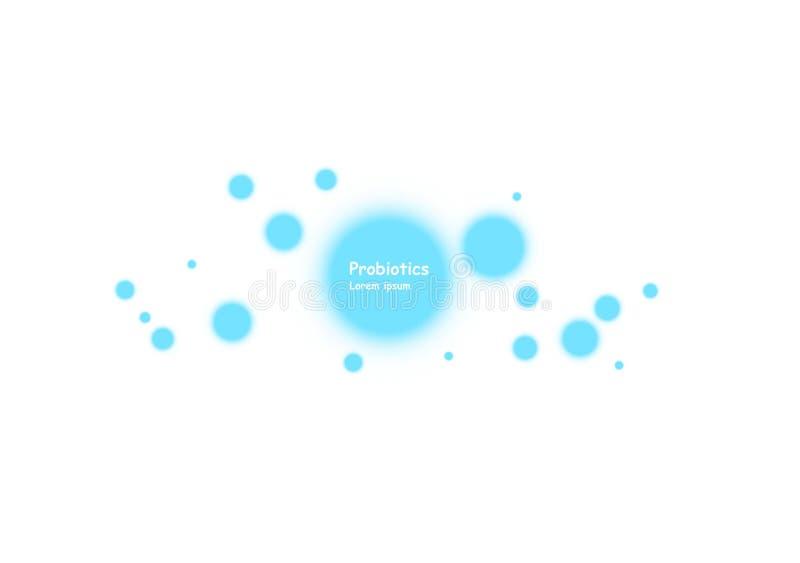 Fondo delle cellule Biologia, fondo di scienza con le cellule Fondo di biologia Illustrazione astratta delle cellule di vettore illustrazione di stock