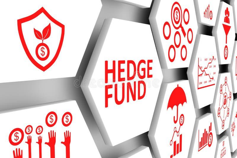 Fondo delle cellule di concetto di HEDGE FUND illustrazione di stock