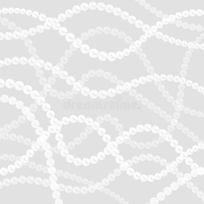 Fondo delle corde della perla Serie ondulate curve di perle illustrazione di stock