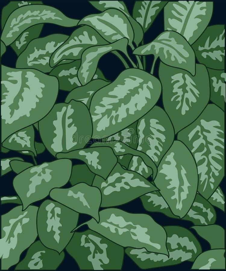 fondo delle foglie macchiate della pianta fotografia stock libera da diritti