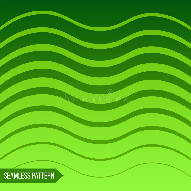 Fondo delle linee curve graduate differenti illustrazione vettoriale