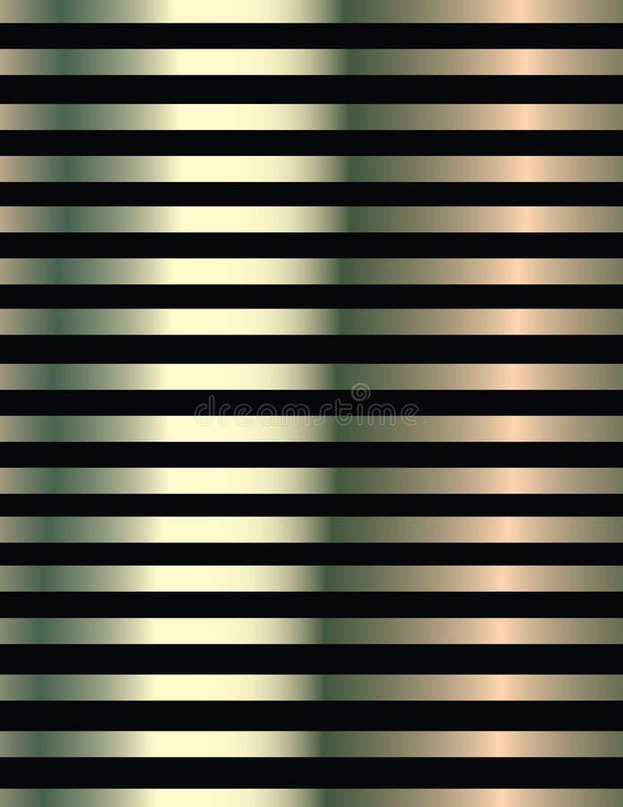 Fondo delle linee nere e metallizzato immagini stock
