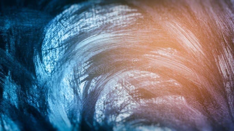 Fondo delle pitture acriliche nei toni blu ed arancio royalty illustrazione gratis
