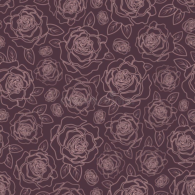 Fondo delle rose illustrazione vettoriale
