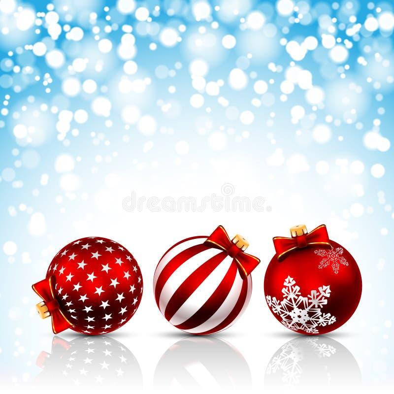 Fondo delle stelle di Natale illustrazione di stock