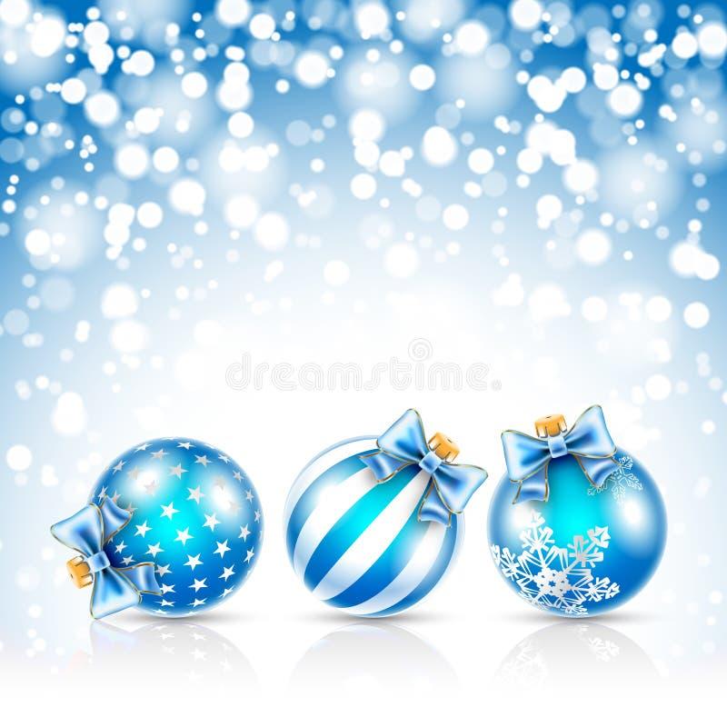 Fondo delle stelle di Natale illustrazione vettoriale