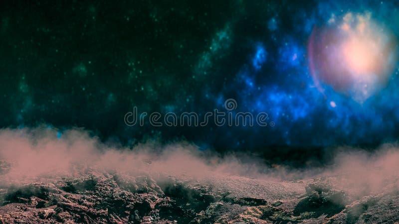 Fondo dello spazio cosmico fotografie stock libere da diritti