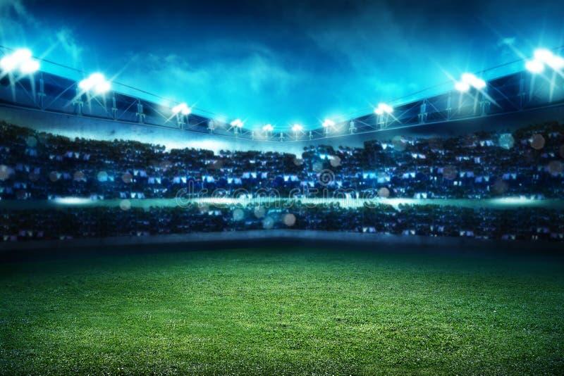 Fondo dello stadio di football americano immagine stock