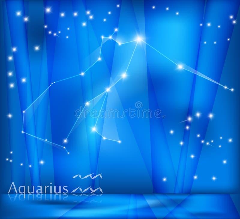 Fondo dello zodiaco di acquario royalty illustrazione gratis