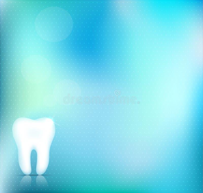 Fondo dentario blu illustrazione di stock